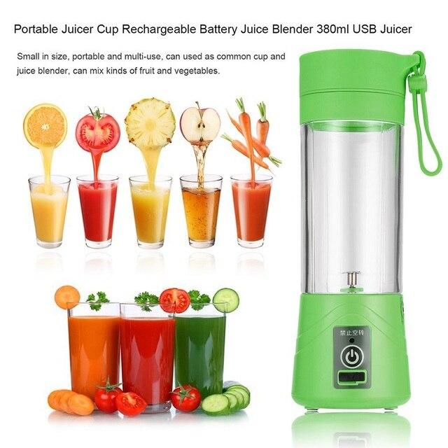 USB החדש 400 ml כוס מסחטה פירות ירקות בלנדר מיץ לסחוט חשמלי כוס 400 מל - משלוח חינם 1