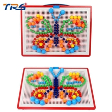 296 mushroom nail science and educational toys children's puzzle gifts plastic insert plate creative ideas