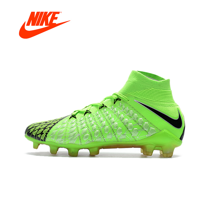 Original Authentic Nike Hypervenom Phantom III DF FG Men's Soccer Shoes Sport Outdoor Football Boots High Top Training 882008 бутсы nike mercurial victory iii fg 509128 800