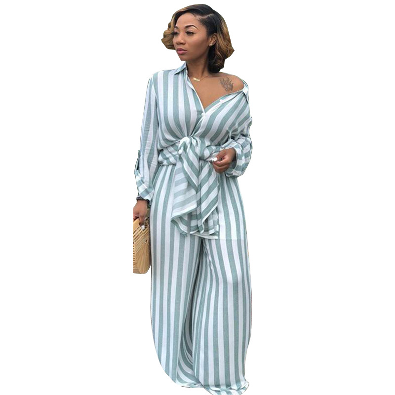 Leisure Trouser Suits Long Blouse and Wide Leg Pants Set Autumn Matching Sets Outfit Women Tracksuit Women Two Piece Sets in Women 39 s Sets from Women 39 s Clothing