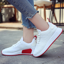 PUIMENTIUA Casual Women Shoes Solid Shallow Simple Style Wedge Sneakers