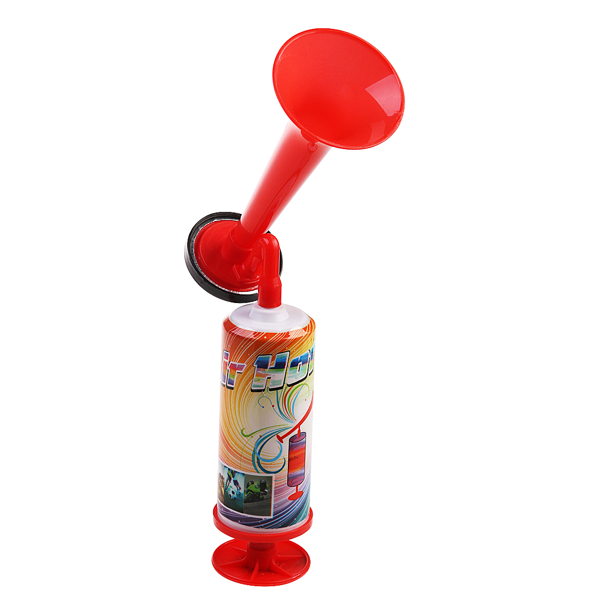 Hand Held Large Air Horn Pump Loud Noise Maker Safety Parties Sports Events (Random Color)