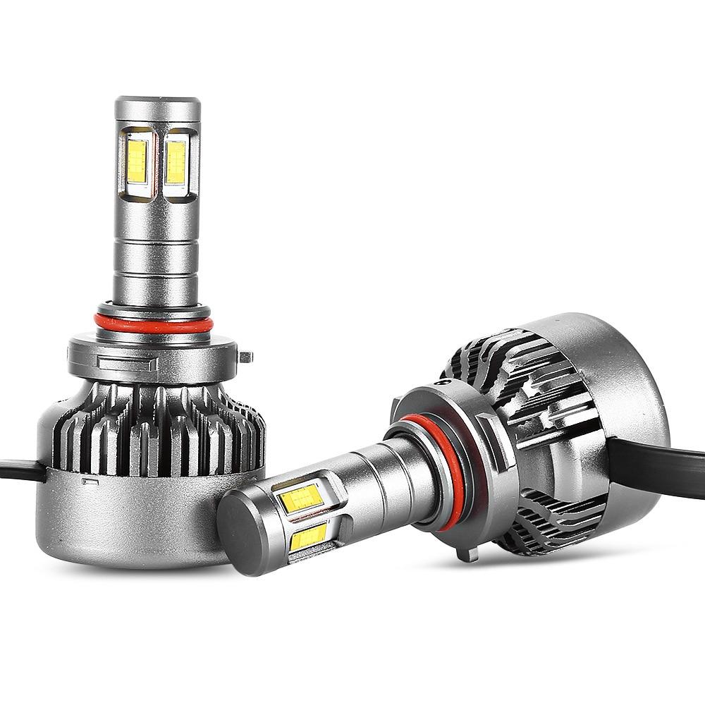 H7 H11 H1 H3 9005 9006 Voiture ampoules de phares LED H4 Hi-Lo Faisceau 80 W 8000LM 6000 K/4300 K Auto lampe frontale LED Voiture Lumière 12 V 2019
