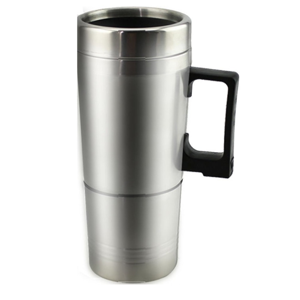 Hot Water Heater Mug For Car - Car Electric Kettle Heated Stainless Steel Portable Heating Cup With Charger 12 Volt/24Volt