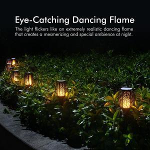 Image 3 - 1 шт. или 2 шт. 96 Светодиодный фонарь светильник на солнечной батарее с мигающим пламенем, уличный фонарь для украшения ландшафта, сада, газона, светильник Zonlicht