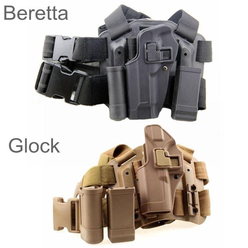 Tático Glock 17 19 92 Beretta Coldre de Perna Militar Perna Coldre de Pistola Na Coxa Esquerda Mão Acessórios Glock Coldre de Arma de Tiro