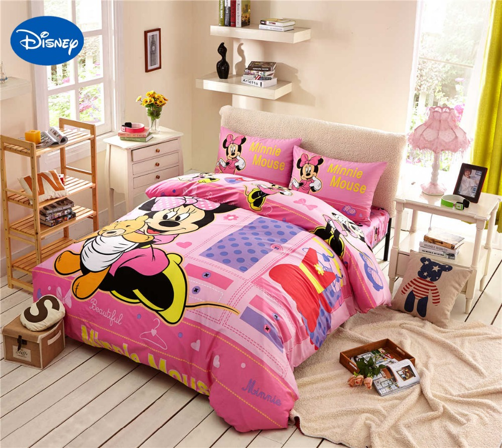 Minnie Mouse Bedding Cotton Cartoon forter Disney
