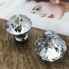 25/30/40 мм модные современные прозрачные кристаллы Стекло дверная ручка для шкафа ящика шкафа кухонные ручки дома необходимой