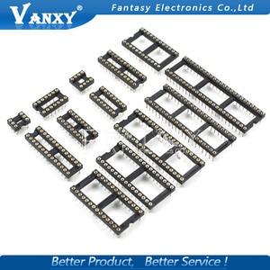10PCS Round Hole IC socket Connector DIP 6 8 14 16 18 20 24 28 40 pin Sockets DIP6 DIP8 DIP14 DIP16 DIP18 DIP20 DIP28 DIP40 pins(China)