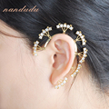 Nandudu Chic ear cuff punk Wrap Earring AAA zirconia ear cuff clip Earring Fashion wedding gift E94