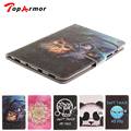 TopArmor Colorful Painted Panda owl Leather Cover Case for Samsung Galaxy Tab S2 8.0 T710 T715 Tablet Fundas case cover