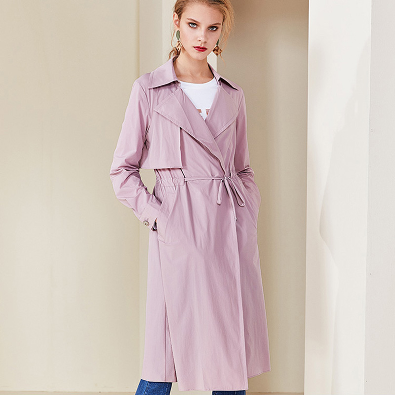 Trench Ol Tranchée Manteau Pour Gray Dentelle Femmes Nouveauté Bureau Bandage Femme Printemps Mode Doublure Rose 2019 Pink Slim Survêtement Longue coat vwyn0PmN8O