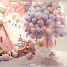25 teil/los 10 inch Macaron Latex luftballons Hochzeit Geburtstag Dekoration Globos Baby Dusche Mädchen Geburtstag Party Helium Ballon Neue