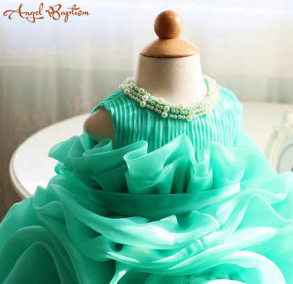 1f1efc70d Detail Feedback Questions about Ball gown Green ruffles baby 1 year ...