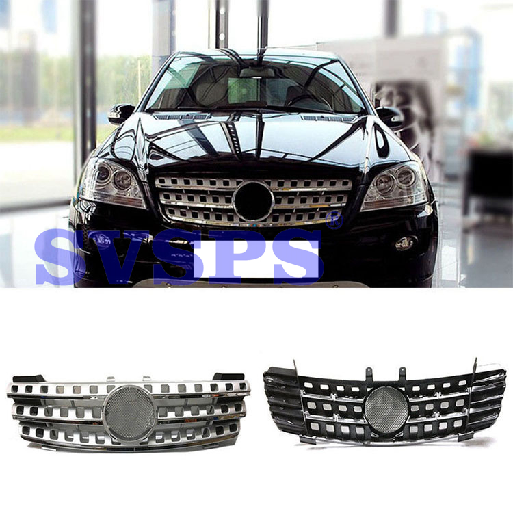 High Quality ABS Front Middle Grille For Mercedes Benz ML-Class W164 2000-2006 Year стоимость