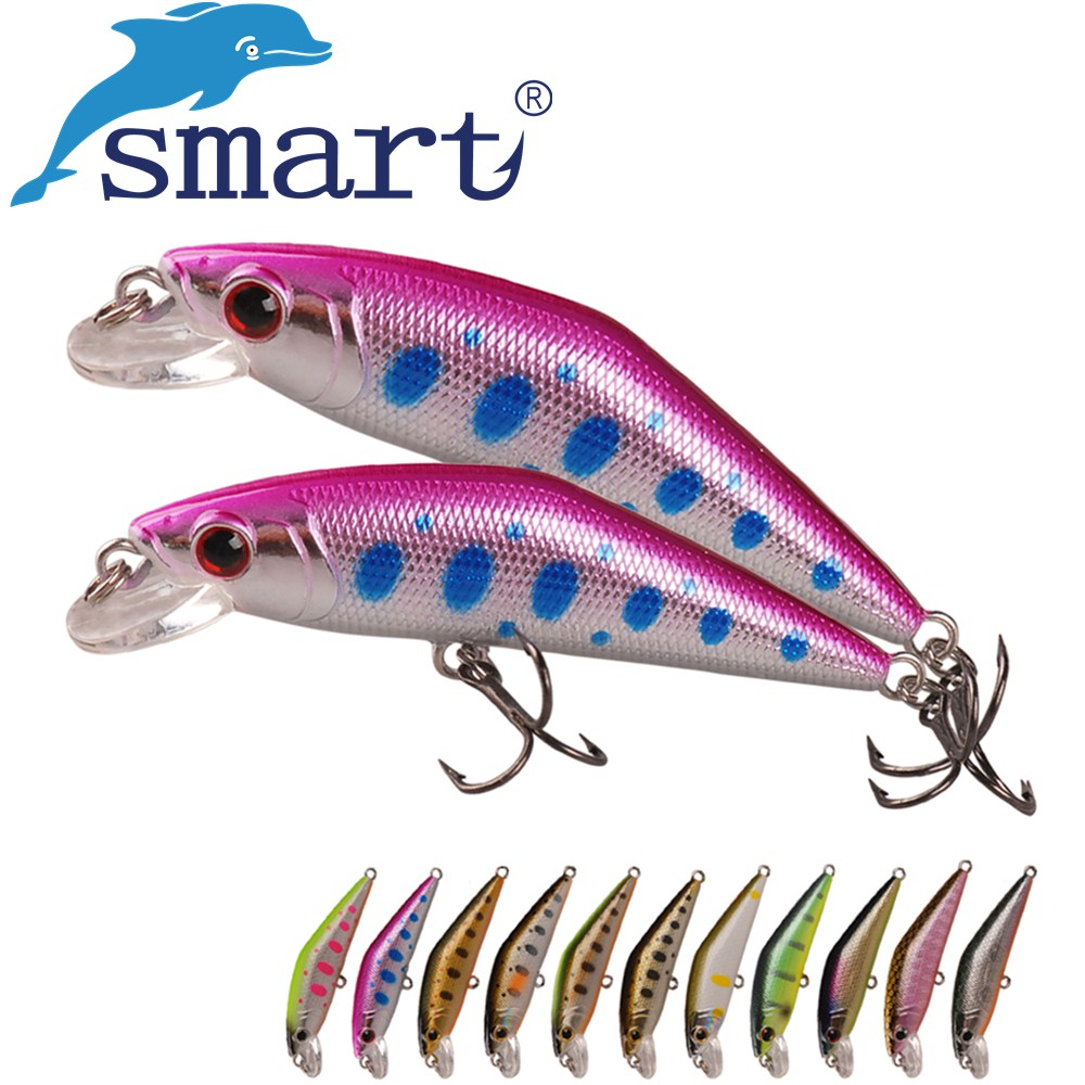 SMART Minnow Bait 50mm3.6g Sinking Hard Fishing Lure VMC Hook Isca Artificial Para Pesca Leurre Peche Fishing Wobblers Kunstaas trulinoya dw13 super minnow simuation fish 105mm 15g heavy lure dive deep2 5m hard bait fishing lure vmc hook