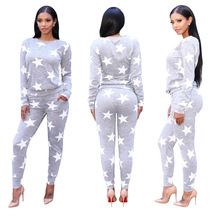 Crop Top And Skirt Set Set Products Sell Like Women's Clothing European American Fashion Stars Printing Suit, Two-piece Outfit