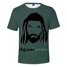 Hot Selling Summer T-shirt DC Movie AQUAMAN Sea King Waterman 3D Digital Printing Short Sleeve men/women/Child Tees Tops