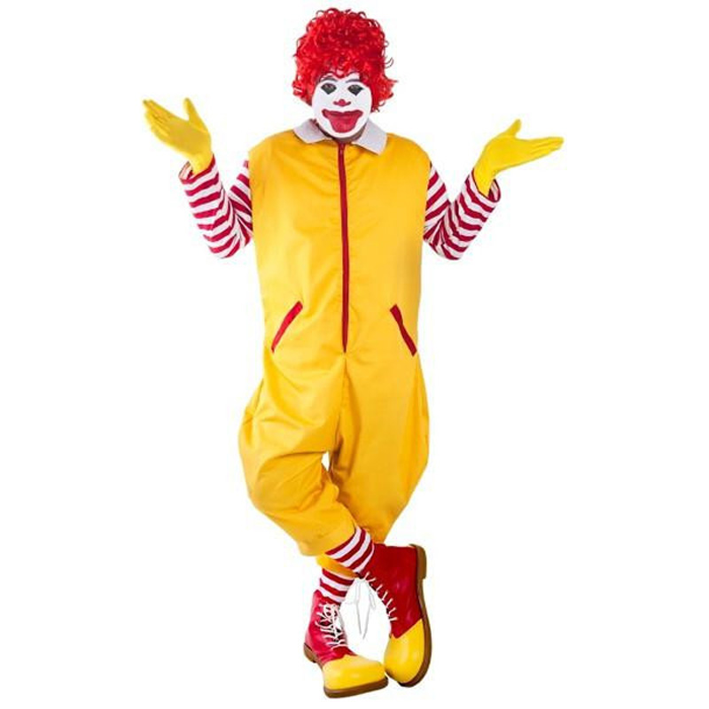 Adult Fastfood the Clown Costume Adult Halloween Cosplay Costume