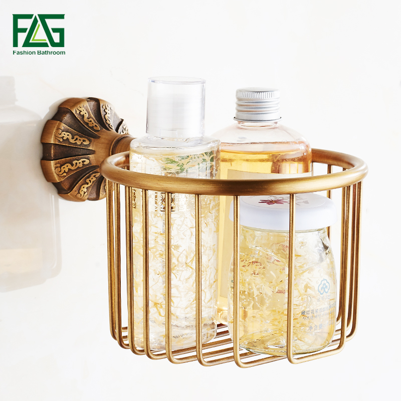 FLG Paper Holders Antique Bronze Bathroom Brass Toilet Paper Holder Roll Paper Towel Holder Shower Storage Bath Hardware G130 05 in Paper Holders from Home Improvement