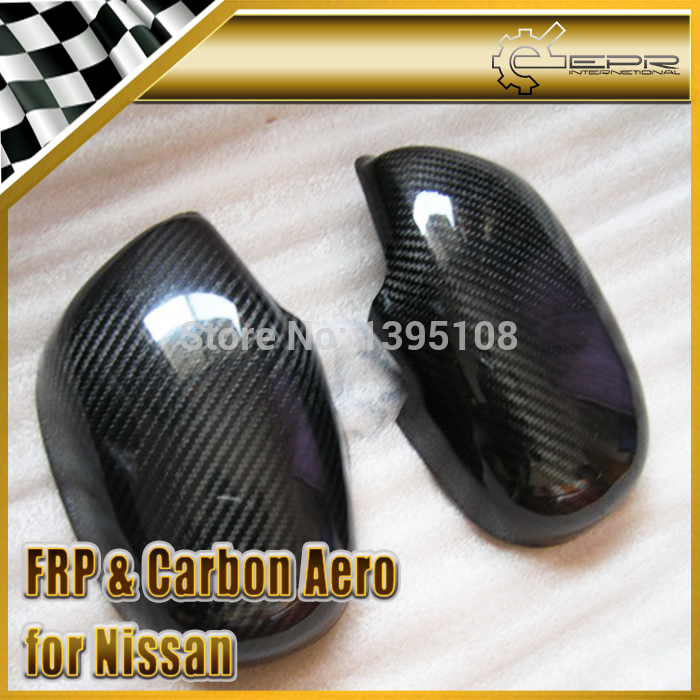 New Car Styling For Nissan Skyline R33 Carbon Fiber Side Mirror Cover 2pcs new 2pcs side mirror cover for nissan skyline r34 gtt gtr carbon fiber car accessories car styling