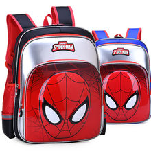 Superhero 3D Spiderman Patchwork Girl Boy Children Nursery Book School bag Bagpack Schoolbags Kids Teenagers Student Backpacks(China)