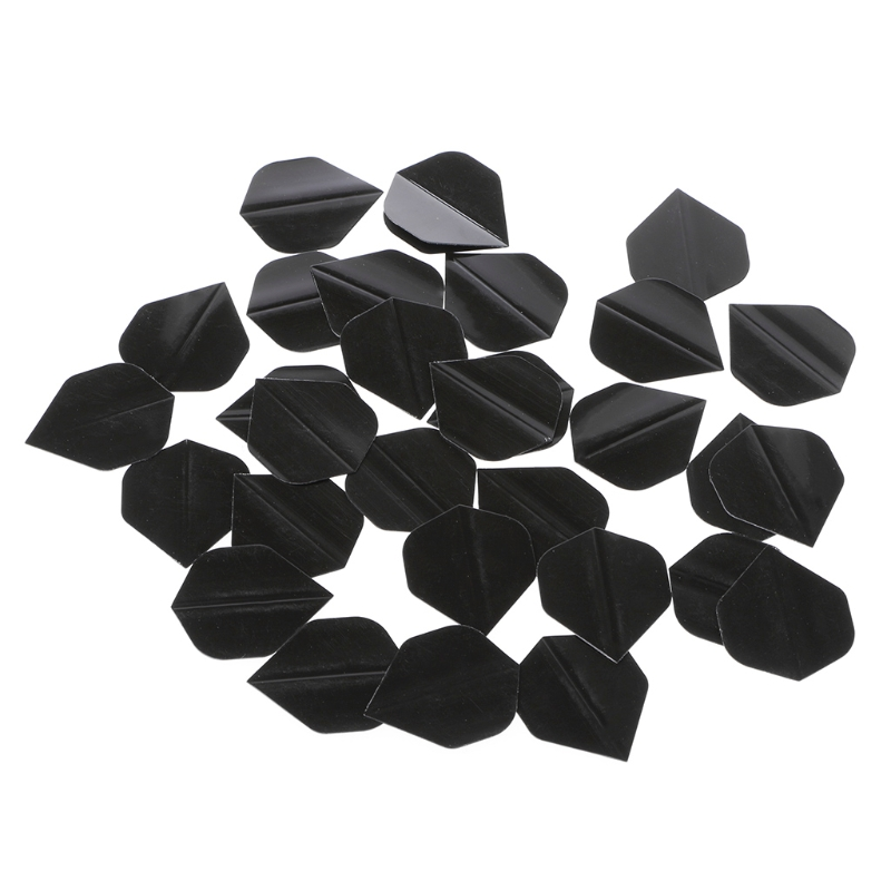 30 Pcs/set  High Quality Simple Pure Black PET Dart Flights Fun