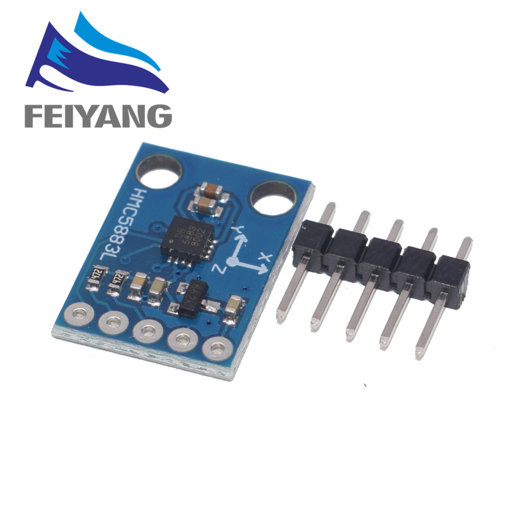 1PCS GY-273 3V-5V HMC5883L Triple Axis Compass Magnetometer Sensor Module Three Axis Magnetic Field Module For Arduino