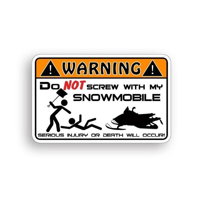 Autocollant davertissement de motoneige drôle avertissement décalcomanie neige Ski traîneau course graphique pare-chocs