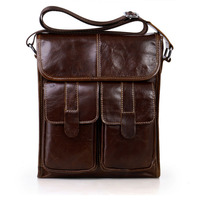 Genuine Leather Men bags Fashion Brand Designer Handbags Shoulder Vintage Retro Cow Bags Men Messenger Bags Briefcase