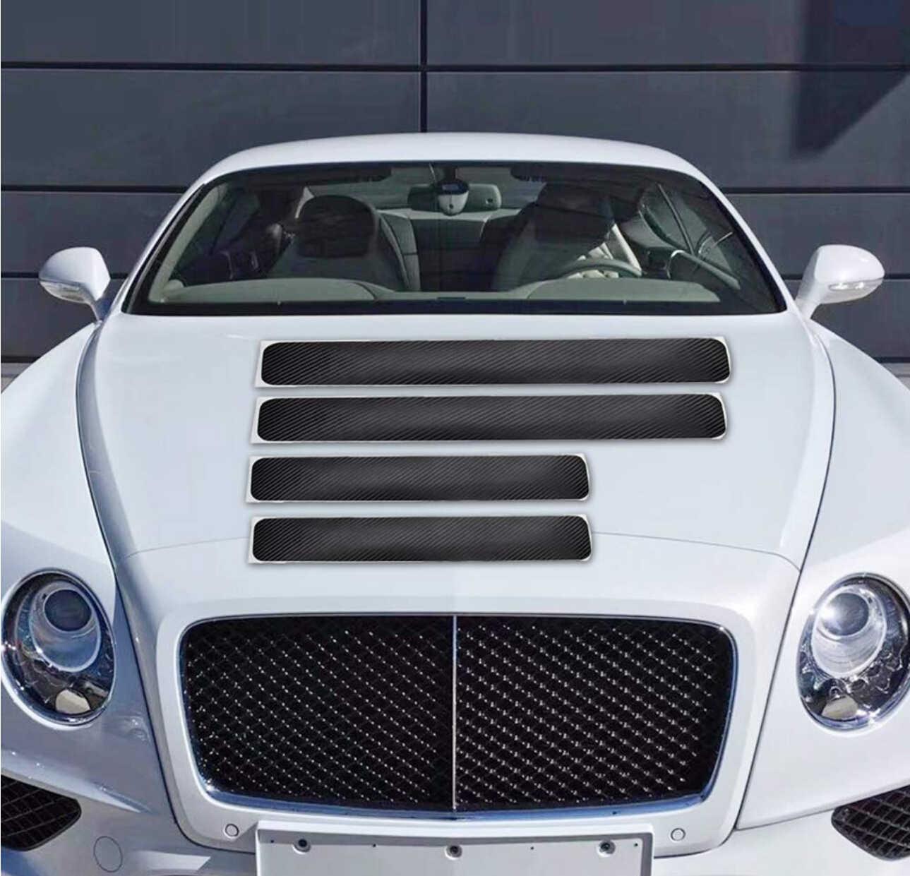 4 piezas de coche puerta Pedal Umbral de fibra de carbono proteger pegatinas para cargador Dodge nitro viaje challenger calibre estilo de coche