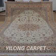Yilong 10'x14′ Persian new zealand wool area rugs handmade exquisite turkish wool silk carpet (1505)