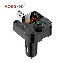 KORSEED Dual USB Автомобильное зарядное устройство с fm-передатчиком Bluetooth hands-free FM модулятор автомобильное зарядное устройство для телефона для iPhone