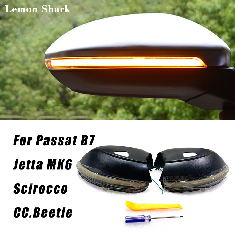 LED Flux Blink Rétroviseur Dynamique Séquentielle Miroir d'eau Qui Coule Signal Lumineux de Tour Pour VW Passat B7 CC Jetta MK6 Scirocco beetle