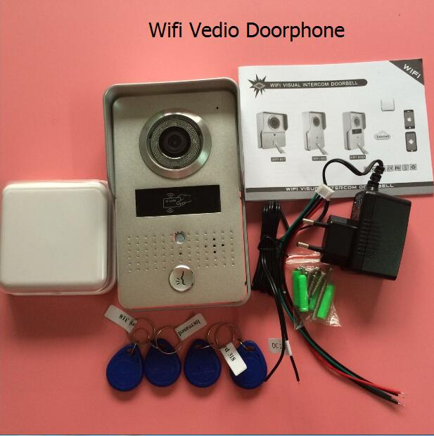 Wireless Video Door Phone Wifi 3G 4G Doorbell Camera +Indoor Bell+ RFID Keyfobs Wifi Intercom IP door bell camera for Smartphone цена
