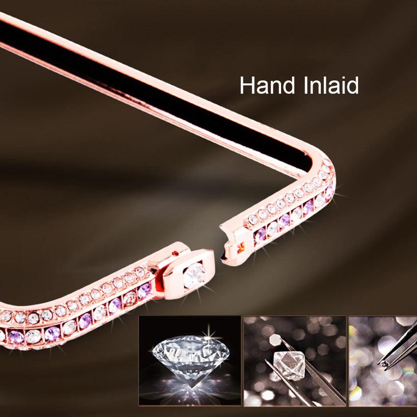 Slim Zinc Alloy Metal Color Diamond Bumper Coque Case για Apple - Ανταλλακτικά και αξεσουάρ κινητών τηλεφώνων - Φωτογραφία 4