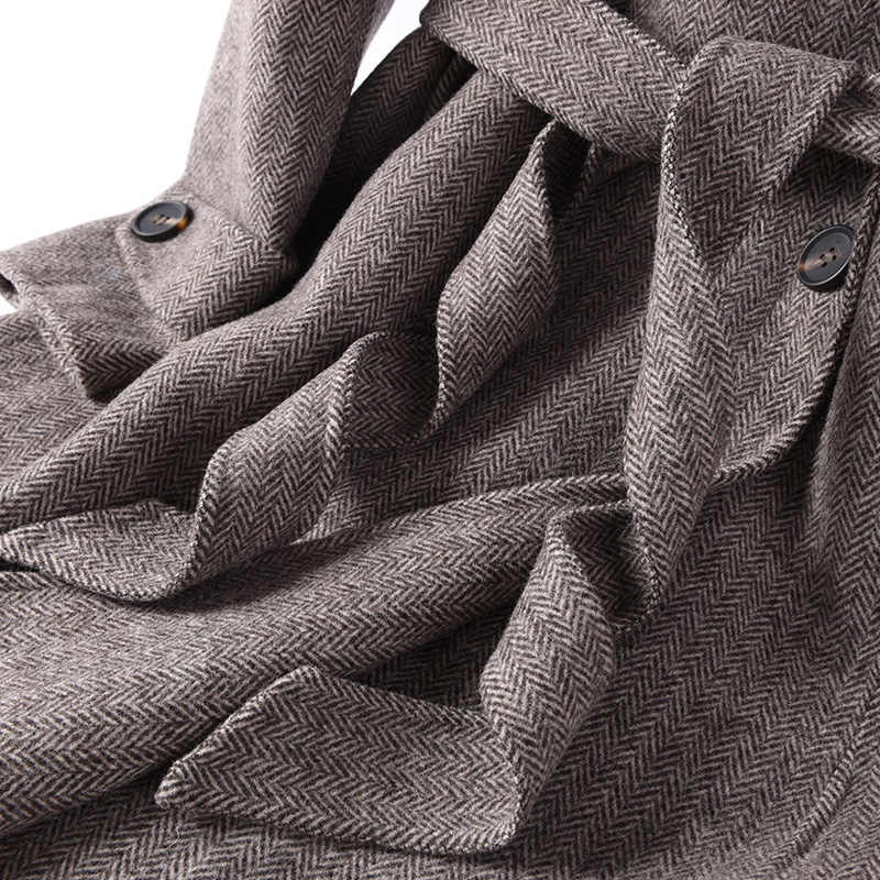 18 Autumn and Winter New Double-Sided Coat Woman High Lapel Pure Wool Woolen Coat Long Fashion Coat Over The Knee Cardigan