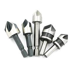 GTBL 5 шт. промышленные 5 флейты Зенковка сверло набор древесины 45 сталь Рабочая фаска