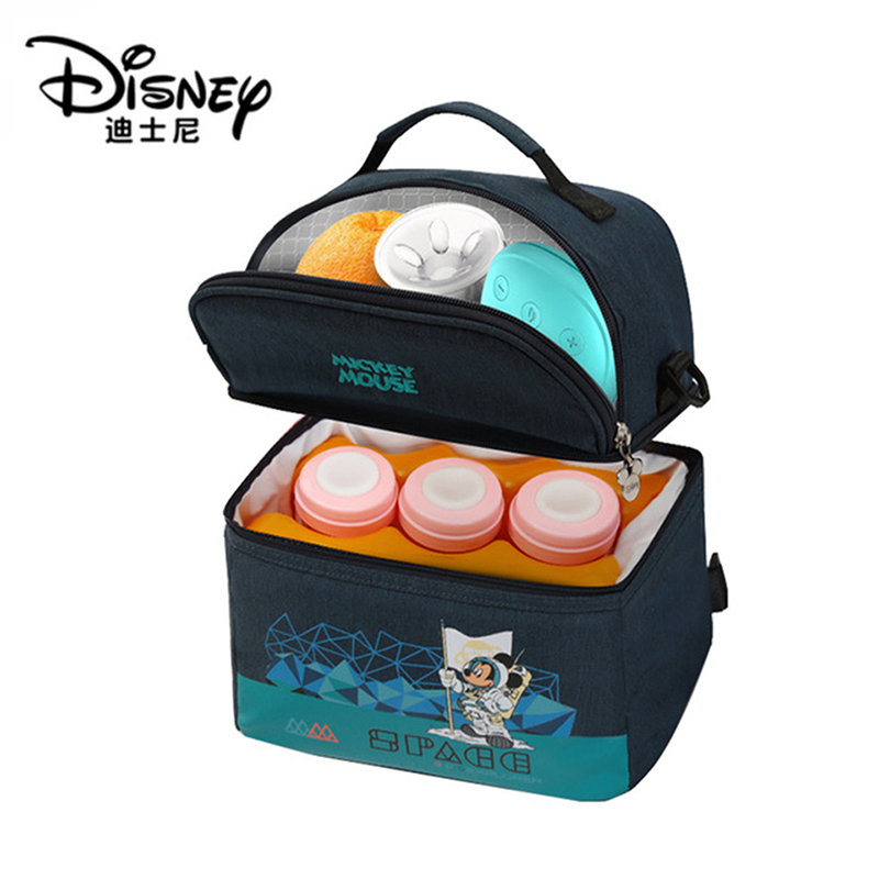 Disney Insulation Bag Milk Food Storage Thermal Bag Warmer Box Baby Feeding Bottle Thermal Keeps Drinks Cool Backpack