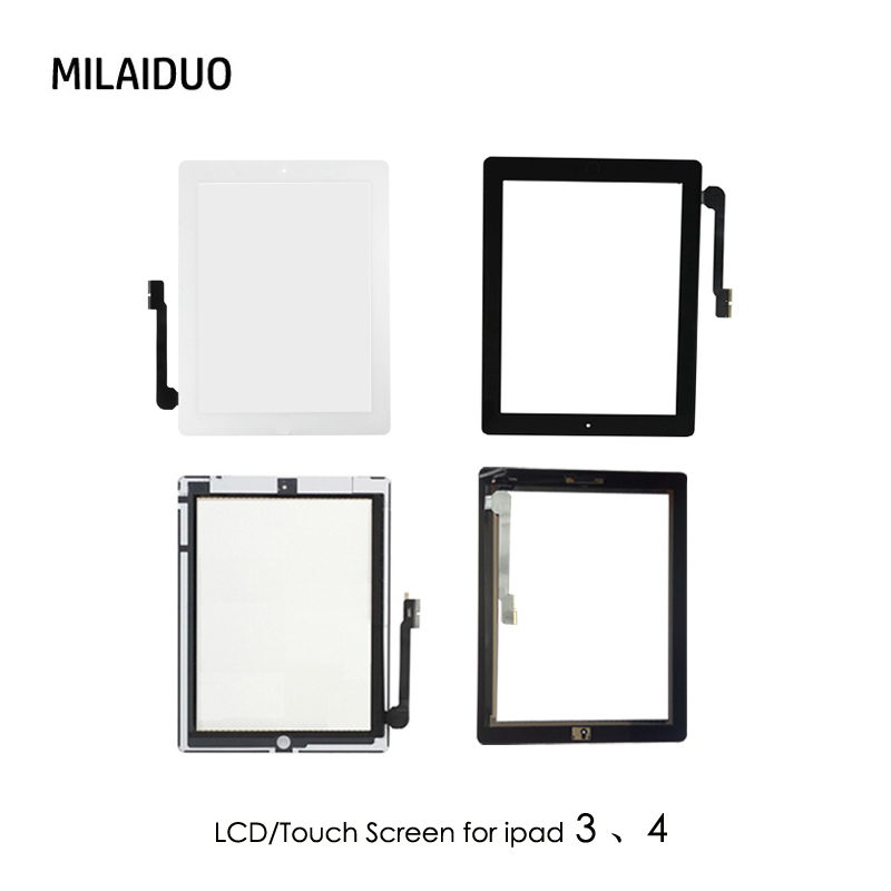 Orig/OEM For ipad A1403 A1416 A1430 A1458 A1459 Touch Screen Digitizer Panel LCD Display Screen Repair Parts For ipad 3 4 Tablet s46240mb3sl4lv0 4 s46240mb3sr4lv0 4 lcd panel pcb parts a pair