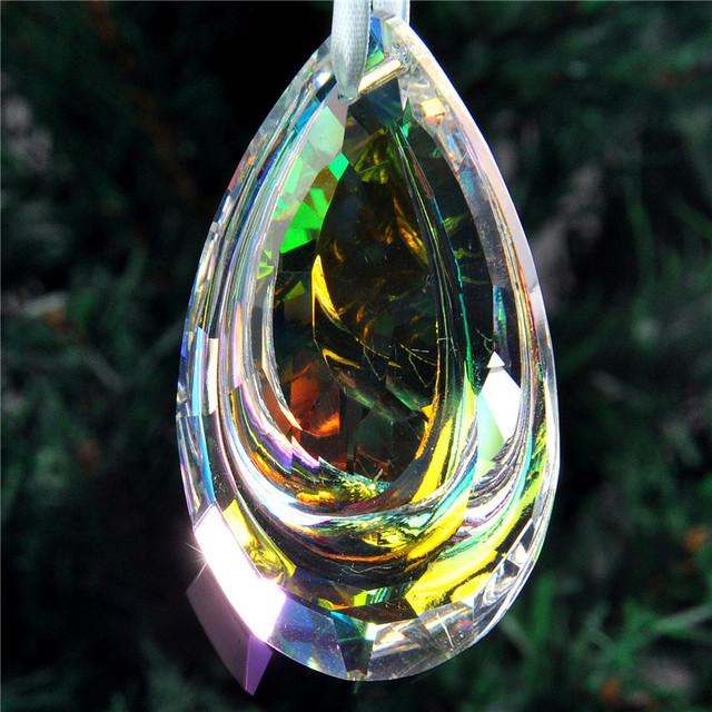 H&D Colorful Suncatcher Art Glass Drops Chandelier Pendant Light Lamp Part Hanging Prisms DIY Accessories Crystal Pendant Parts