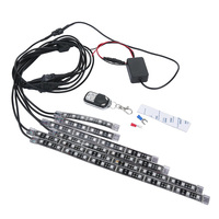 Mayitr 6Pcs Motorcycle LED Neon Strip Lamp Colorful Under Glow Light Flexible RGB LED Light With