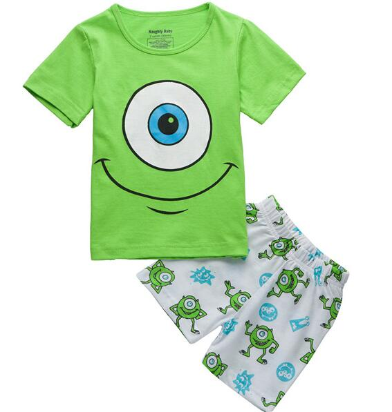 Sports Kids Pajamas Boys Short Sleeve Kids Cotton Pyjamas Nightgrown Baby Sleepwear Baby Childrens Cartoon Pijamas Boys S71 Clothing Sets Back To Search Resultsmother & Kids