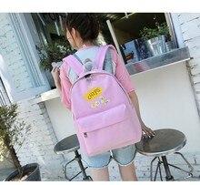Стильный Холст мультфильм печати рюкзак Для женщин Школьные сумки для подростков Обувь для девочек милый рюкзак ноутбук Рюкзаки женские парусиновые Bagpack