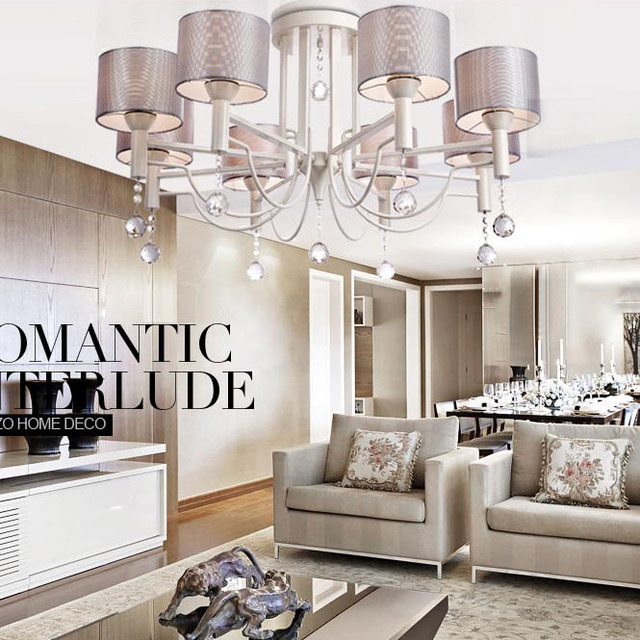 90cm 8 Lights Modern Crystal Chandeliers Free Shipping Luxury ...