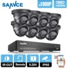 ANNKE 8CH HD 1080P NVR HDMI DVR 8 Outdoor IR Surveillance Security Camera System
