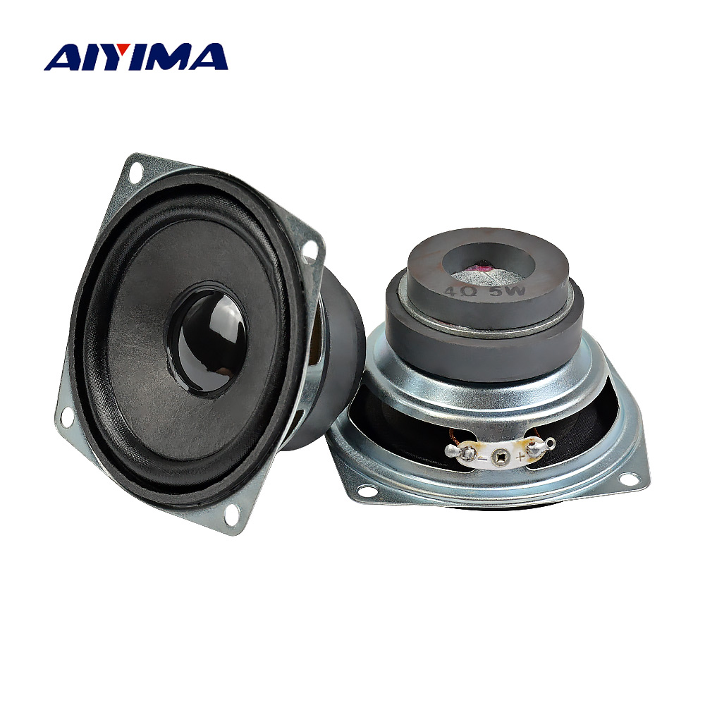 AIYIMA 2PCS 4 ohm 5W Audio <font><b>Speaker</b></font> 3inch 66mm Tweeter Treble Altavoz Square <font><b>Bluetooth</b></font> loudSpeaker DIY Home Theater Sound System image