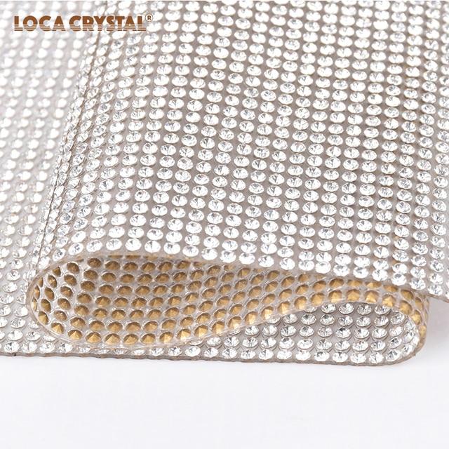 2mm Pointback Rhinestone Sheet High Quality Cup Bags Accessories Strass Rhinestone  Mesh LOCACRYSTAL b8ba93537327