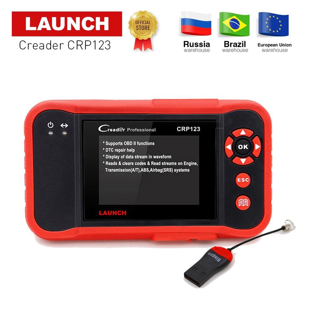 LANCEMENT Creader CRP123 Support Moteur/ABS/SRS/Transmission Automobile Lecteur de Code De Voiture outil de diagnostic CRP 123 Scanner mise à jour gratuite