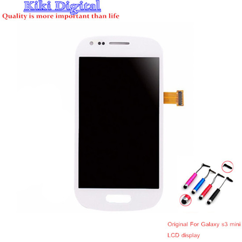 A+++ LCD Display Touch screen Digitizer AssemblyFor Samsung Galaxy s3 mini i8190 White LCD Free Shipping